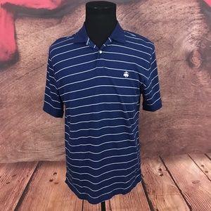 Brooks Brothers   Blue Striped White Polo Shirt L